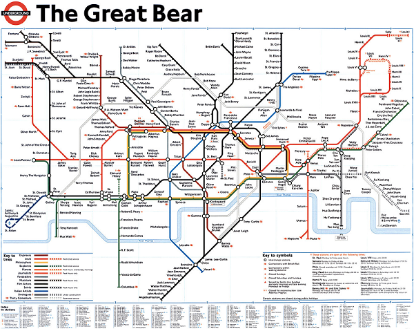 London Undergound art: four unusual London tube maps