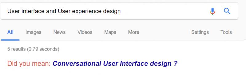 Conversational UI design - header