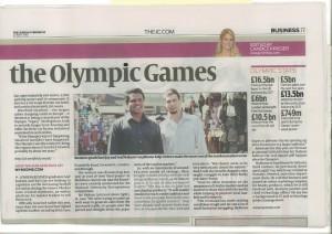 myMzone - News paper coverage - london olympics 2012